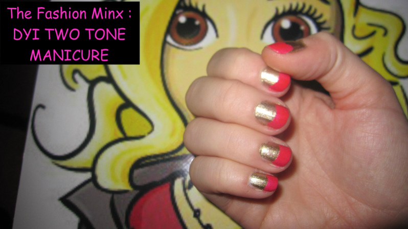 042 2 DYI: TWO TONE NAILS  Get the Salon look for less!!!