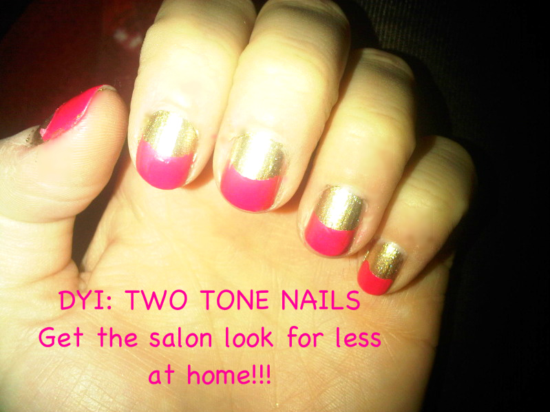 IMG 20120229 011011 DYI: TWO TONE NAILS  Get the Salon look for less!!!