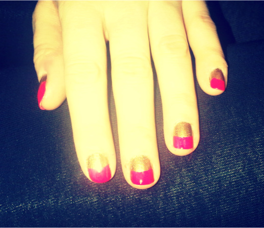 IMG 20120229 011021 DYI: TWO TONE NAILS  Get the Salon look for less!!!