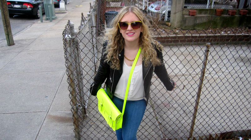 Julie neon satchel Balenciaga and neon yellow