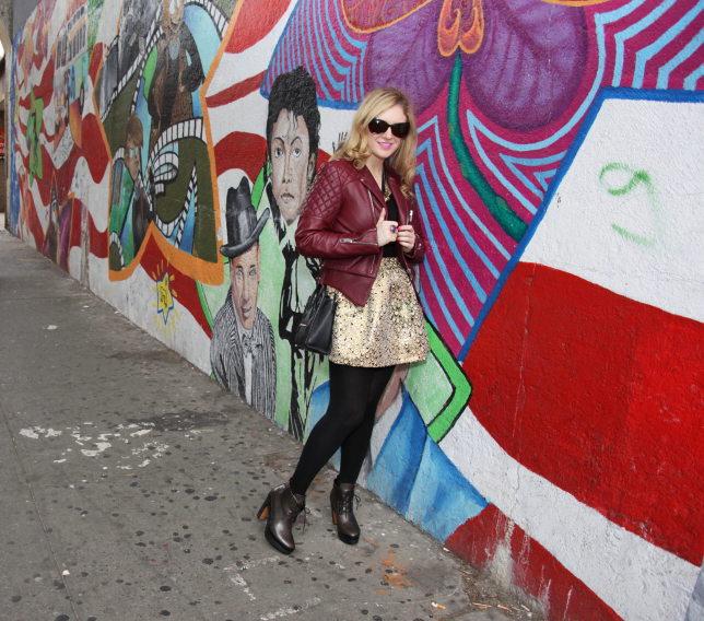 Julie quilted jacket grafitti wall cropped2 Urban Jungle
