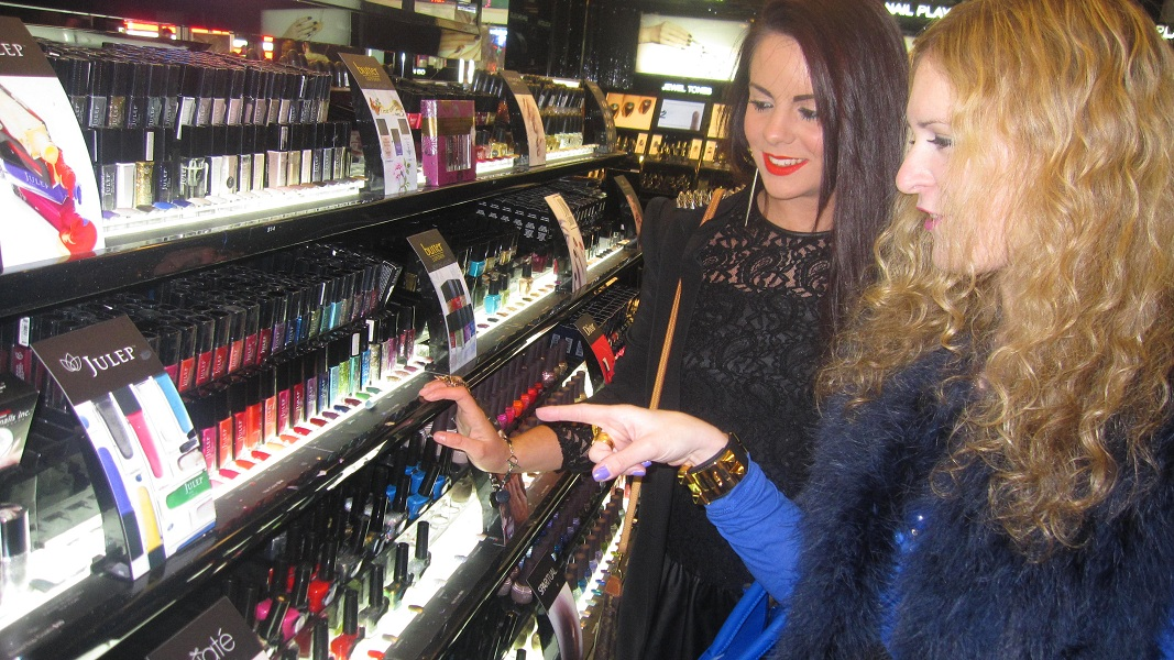 Julie and Nicola sephora 21 The Fashion Minx and The Sequin Cinderella in NYC!!!