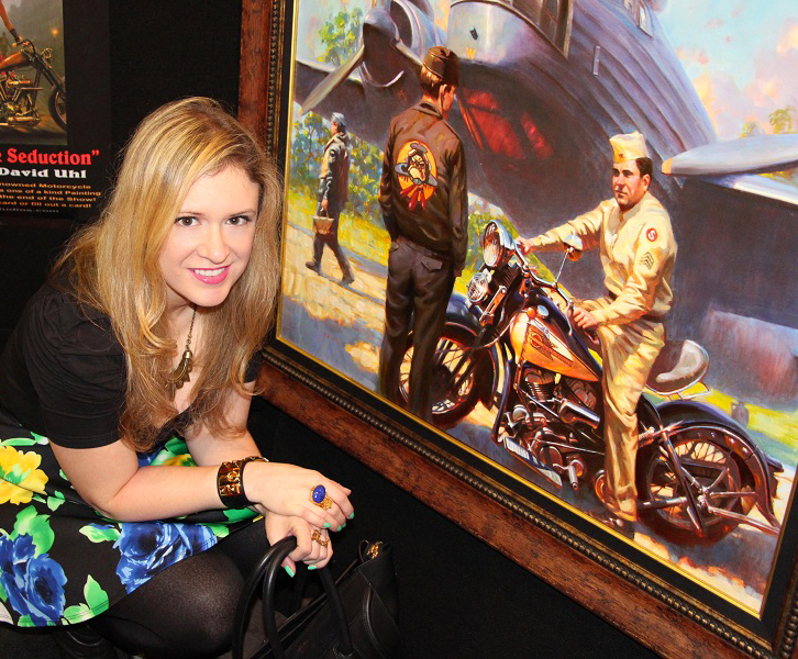 Bike show paintings