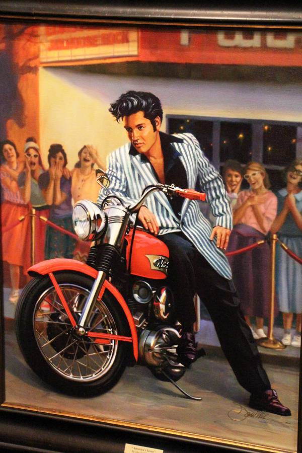 Elvis painting at bike show