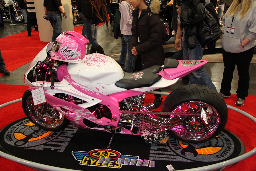 bike show pink bike High Fashion in Machine City