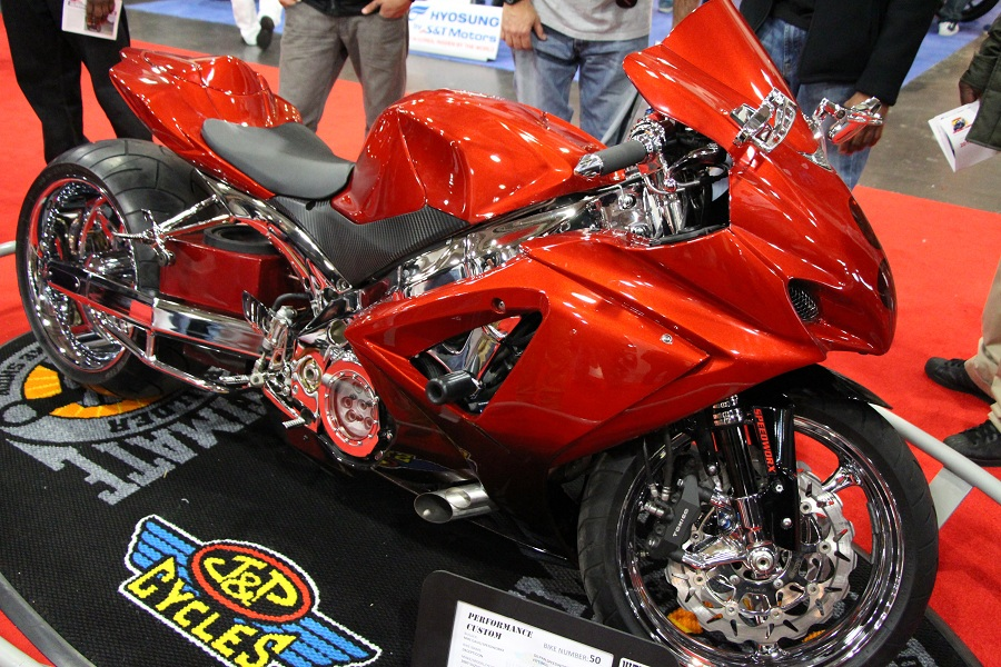 bike show red bike High Fashion in Machine City