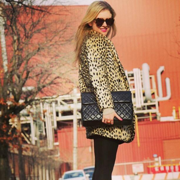 Asos leopard coat instagram Asos Leopard Coat Giveaway!