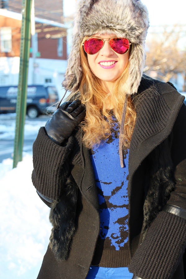 Julie nemo 13 Bright Snow Shiny Day!  (And winner of Asos coat giveaway announced!)