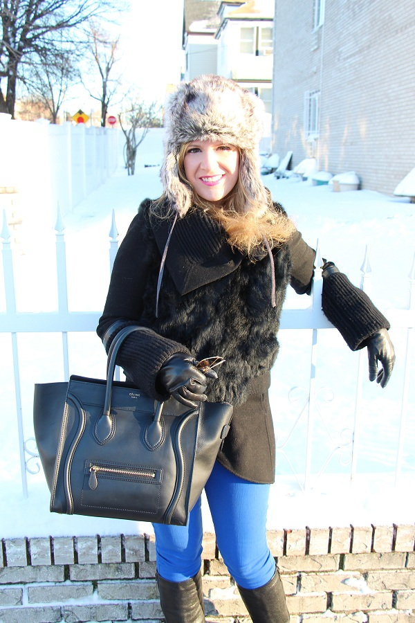 Julie nemo 8 Bright Snow Shiny Day!  (And winner of Asos coat giveaway announced!)