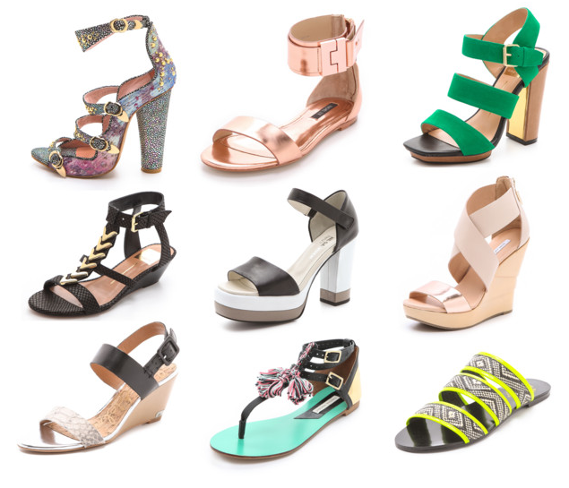 My picks for the best Summer Sandals 2013