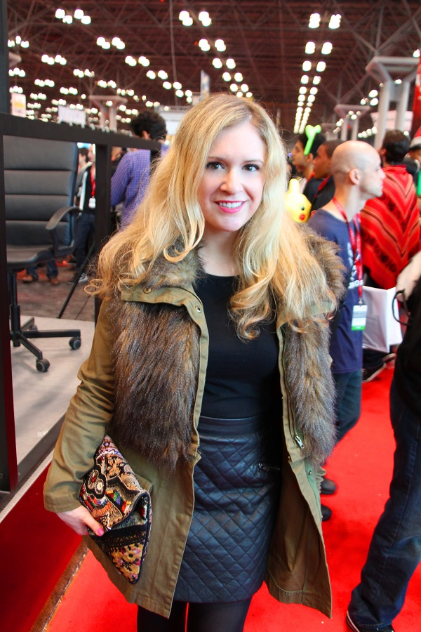 Julie comic con edited 2 resized Super Fashion with Super Heroes  NYC Comic Con 2013