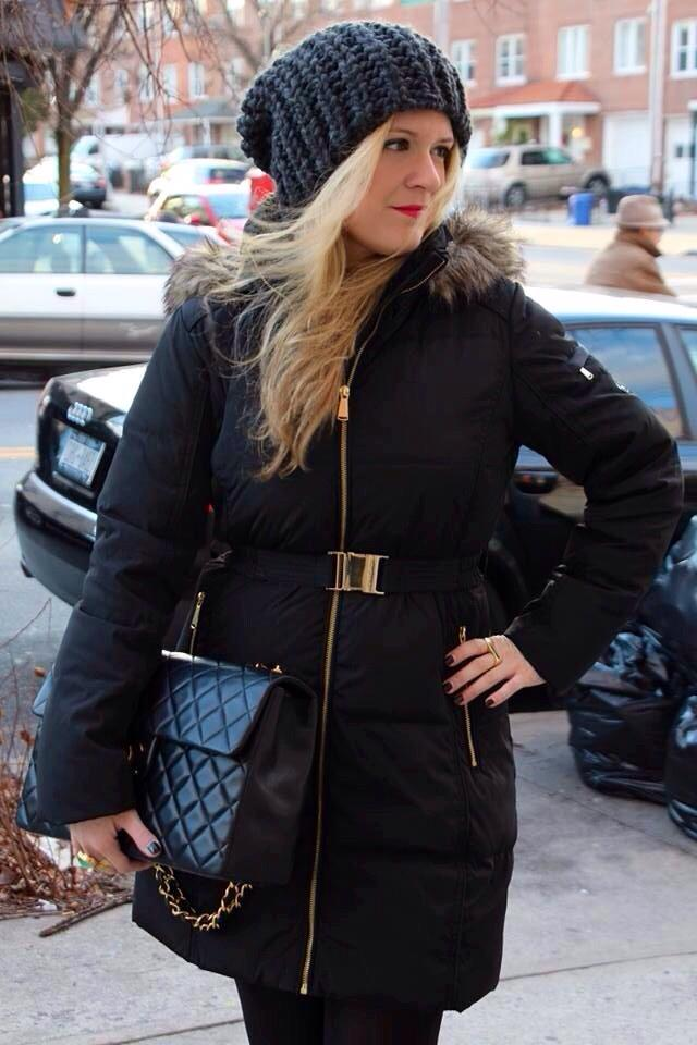 Julie Michael Kors coat shoot edited 1 Black and Gold