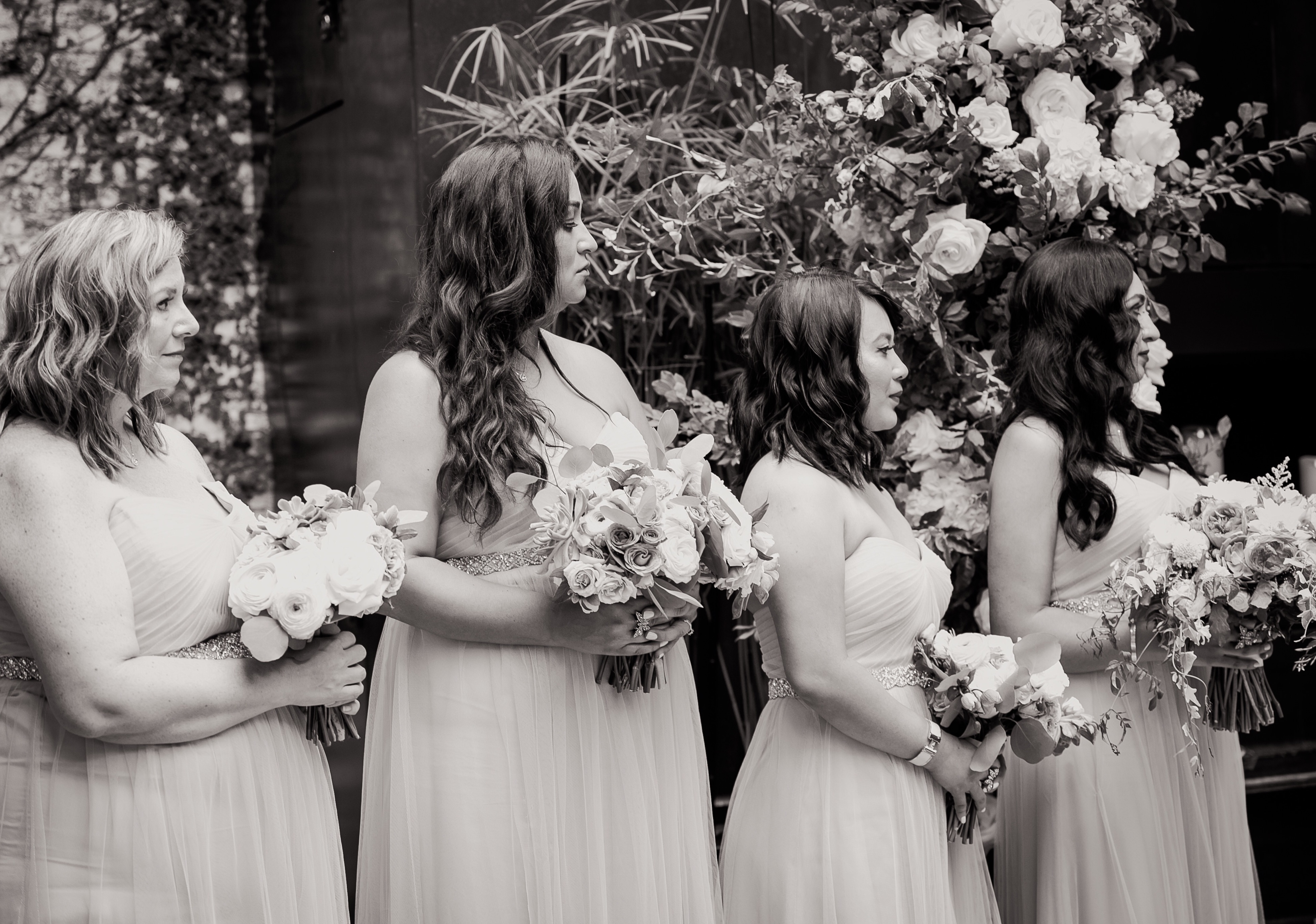 ceremony girls bw Our Magical Wedding Part Two  Guest post by Yokairy Tavarez