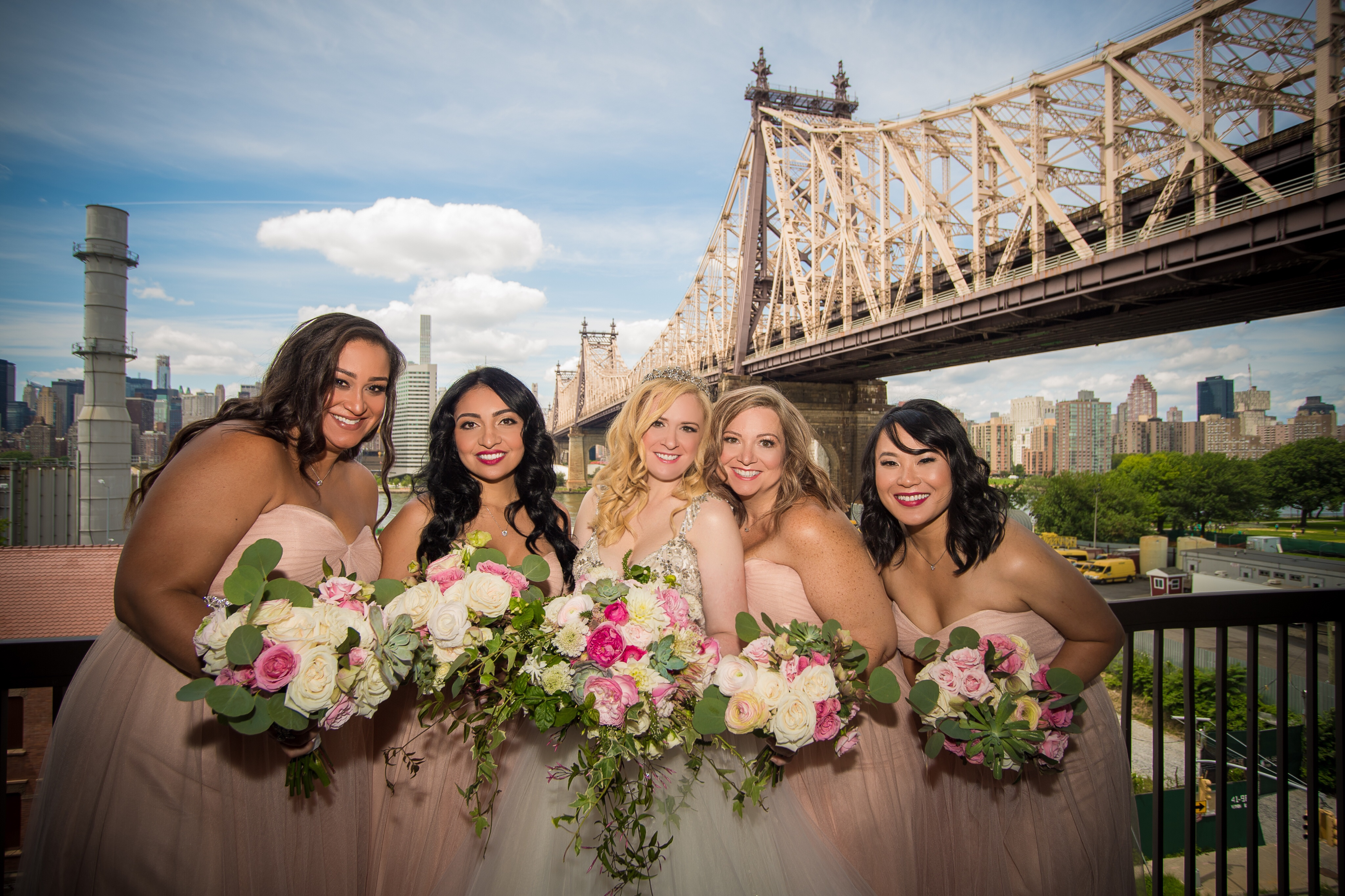 group shot Our Magical Wedding  Part One (Getting ready with your bridal party,  plus hotel room must haves!)
